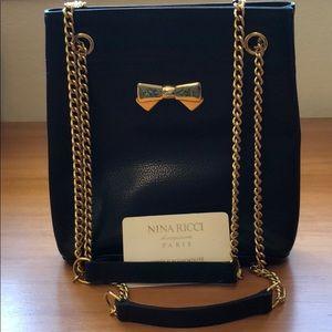 Nina Ricci Vintage purse black/gold chain